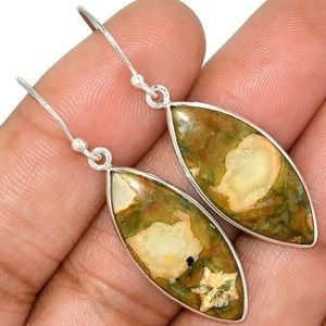 Rocky Butte Picture Jasper 925 Earrings